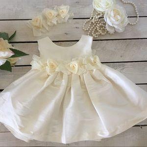 Other - Baby flower girl taffeta rosette dress